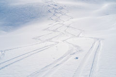 Ski tracks Stock Photography