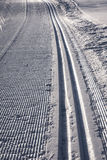 Ski Tracks Track Snow Immagini Stock