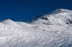 Ski trackst. France Stock Photos