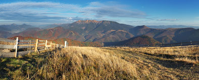 Ski trail in autumn in resort Donovaly Royalty Free Stock Photography