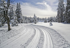 Ski trail Stock Photo