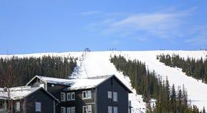 Ski trail in Lindvallen. Salen. Dalarna county. Sweden Royalty Free Stock Images