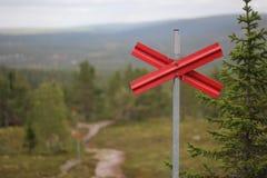 Ski Trail Marking fotografia de stock