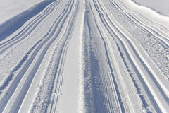 Ski trail at mountains in Bavaria Stock Photography
