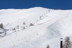 Ski trail. stock photo