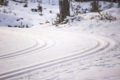 Ski trail Stock Photos