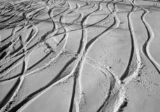 SKI trails. Skiing terrain on Igman mountain near Sarajevo. Olympic battleground royalty free stock photography