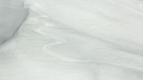 Ski trails in the snow Royalty Free Stock Photography