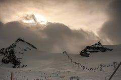 Top of a ski run in Zermatt, Switzerland royalty free stock images