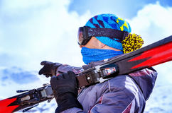 Ski trainer Royalty Free Stock Image