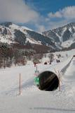 Ski Travelator. At the Ak-Bulak resort, Kazakhstan Royalty Free Stock Photography
