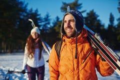 Ski traveling Royalty Free Stock Photo