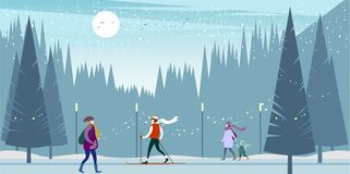Christmas and New Year`s Eve royalty free illustration