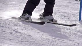 Ski Turn banque de vidéos