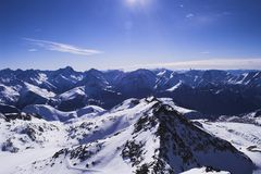 Ski vacation in Alpes Royalty Free Stock Images