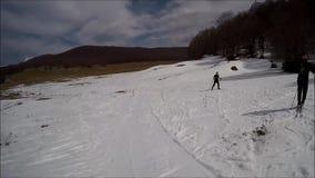 Ski view stock video