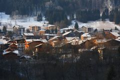 The ski village of Morzine in the French Alps Royalty Free Stock Images