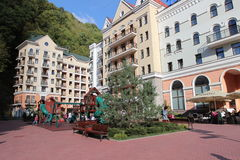 Ski village Rosa Khutor Stock Photography