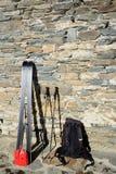 Ski voyageant des outils Photo stock
