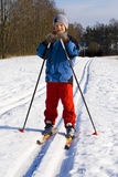 Ski walk Royalty Free Stock Image