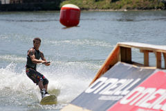 Ski Water. SEVIILLA - JUNE 6: Participant in FAM International Championships of Ski Water on June 6, 2008 in Sevilla, Spain stock image