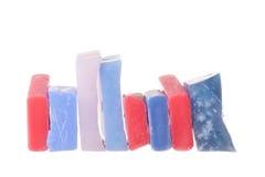 Ski wax. On white background Royalty Free Stock Photo