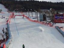 Ski world cup in Bormio Royalty Free Stock Image