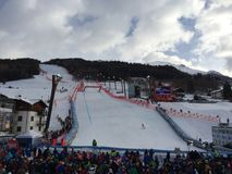 Ski world cup in Bormio Royalty Free Stock Photo