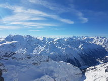 Ski-Winter - die Schweiz - Berge Stockfoto