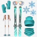 Ski Winter Icon Set stock abbildung