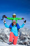 Ski, winter, snow, skiers Stock Images