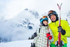 Ski, winter, snow, skiers Royalty Free Stock Photos