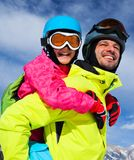 Ski, winter, snow, skiers Royalty Free Stock Photo