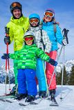 Ski, winter, snow, skiers Royalty Free Stock Photography