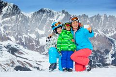 Ski, winter, snow, skiers Royalty Free Stock Image