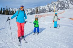 Ski, winter, snow, skiers Stock Image