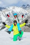 Ski, winter, snow, skiers Stock Photo