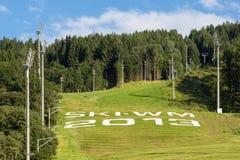 Ski WM 2013 à Schladming Image libre de droits