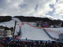 Ski world cup in Bormio Stock Images