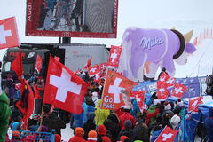 Ski World Cup St Moritz - Fans Royalty Free Stock Photo