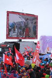 Ski World Cup St Moritz - Fans Stock Image