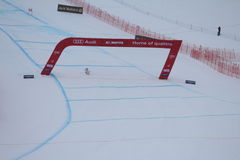 Ski World Cup St Moritz - Test Ski driver Royalty Free Stock Photography