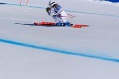 SKI-WORLD-FINALS-DISIPLINA-SEGER Kira Weidle participa nas senhoras corre para baixo para a raça de Ladie Downhill da mulher de X fotos de stock royalty free