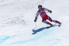 SKI-WORLD-FINALS- SLALOM - il FIS Ski World Cup Finals alpino di MENÂ 2018/2019 al Soldeu-EL più acido in Andorra fotografia stock libera da diritti