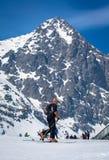 SkiAlp em Tatras alto, Eslováquia Imagem de Stock