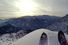 Skialpinism Fotos de archivo