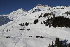 Muerren-Schilthorn. Skiarea of Muerren-Schilthorn in Switzerland royalty free stock image