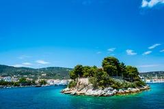 Skiathos海岛,希腊 免版税图库摄影