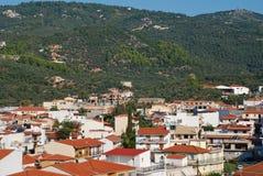 Skiathos镇,希腊 免版税库存图片