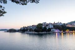 Skiathos στο ηλιοβασίλεμα Στοκ εικόνες με δικαίωμα ελεύθερης χρήσης